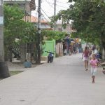 The main street of Utila, Honduras