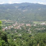 A view of the town of Copan Ruinas from the hillside above.