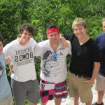 My friends and I at Tikal National Park in Guatemala