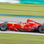F1 Ferrari in action