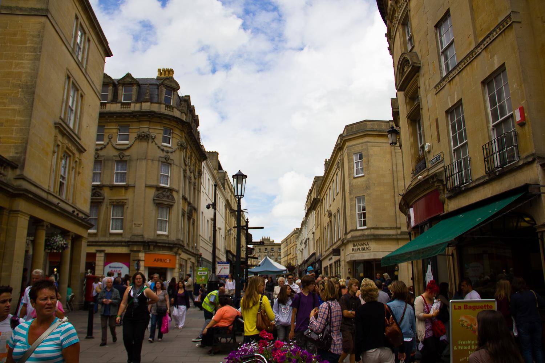 The Saturday Crowds in Bath
